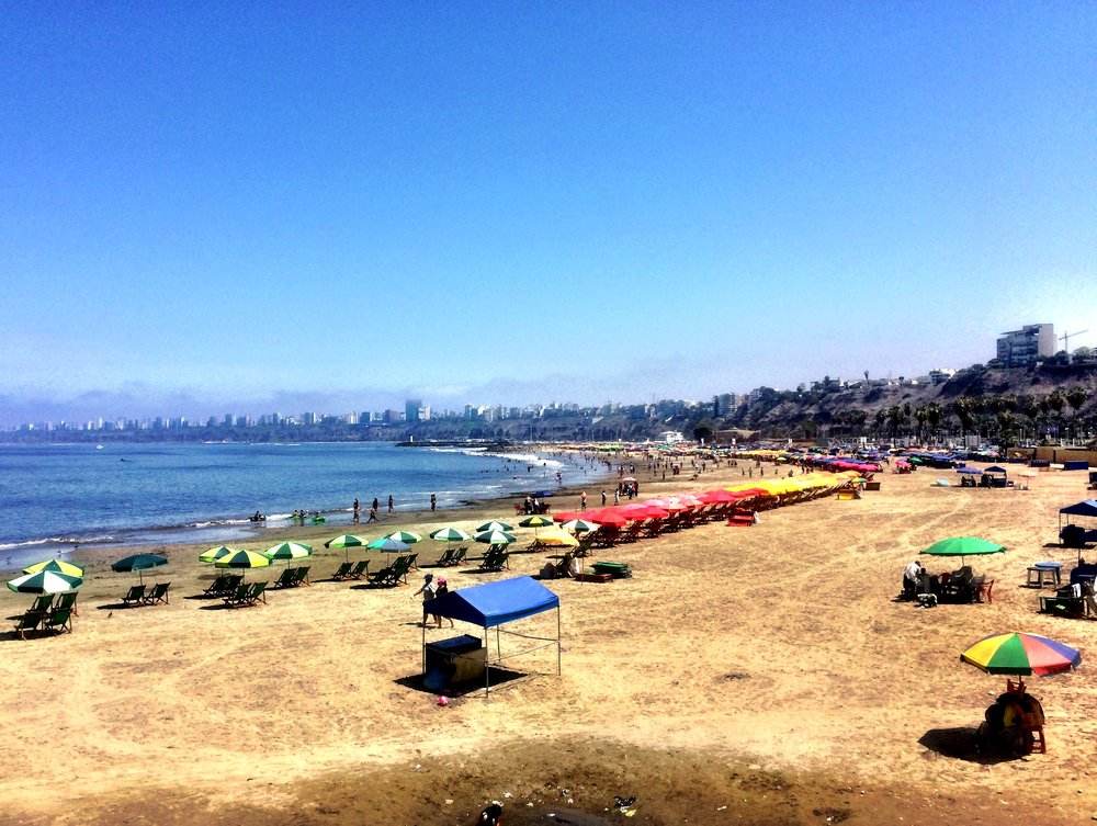Breezy beach day in Lima, Peru