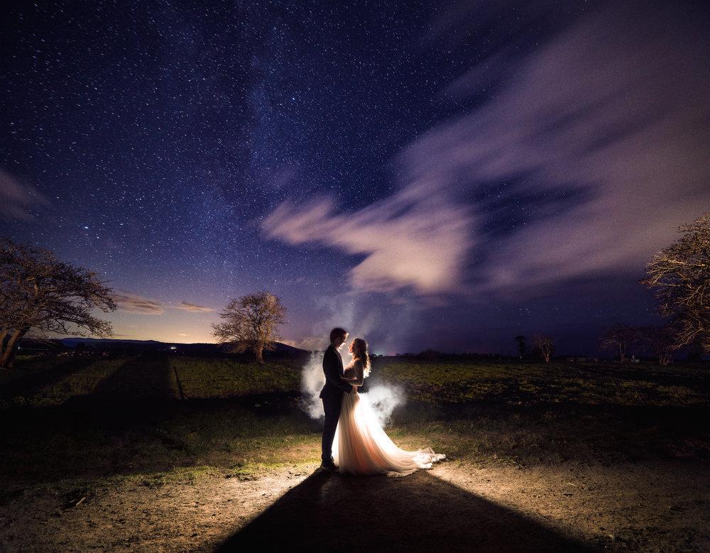 Bride and Groom Wedding Star Photo Australia