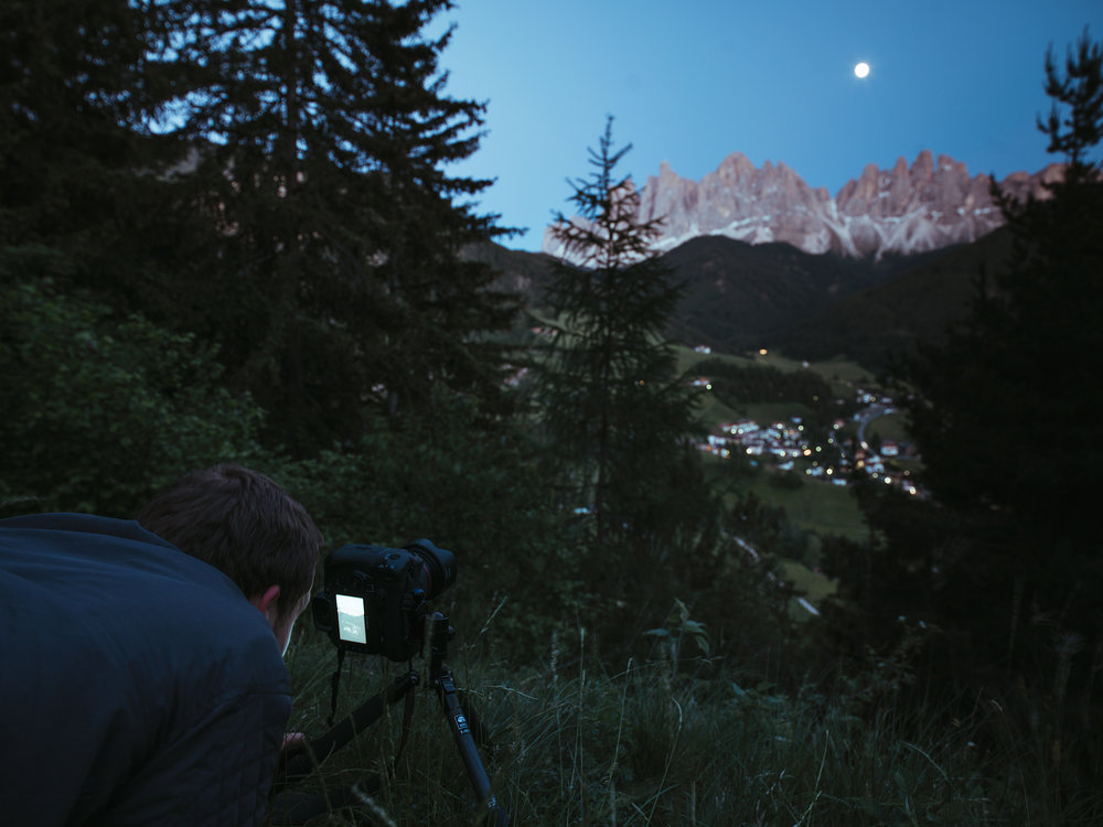 Val di Funes - Simeon getting the angle