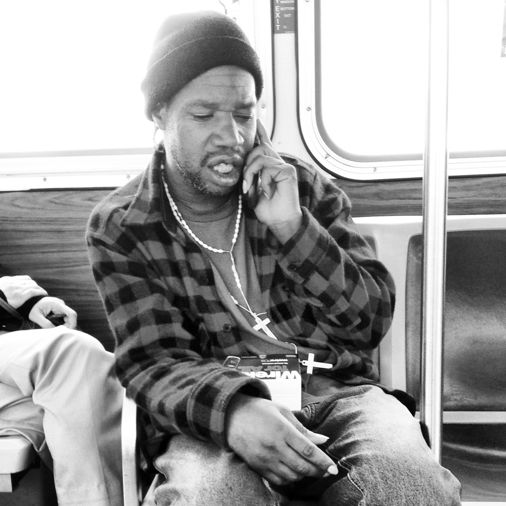 Faces of Muni Project - man on phone