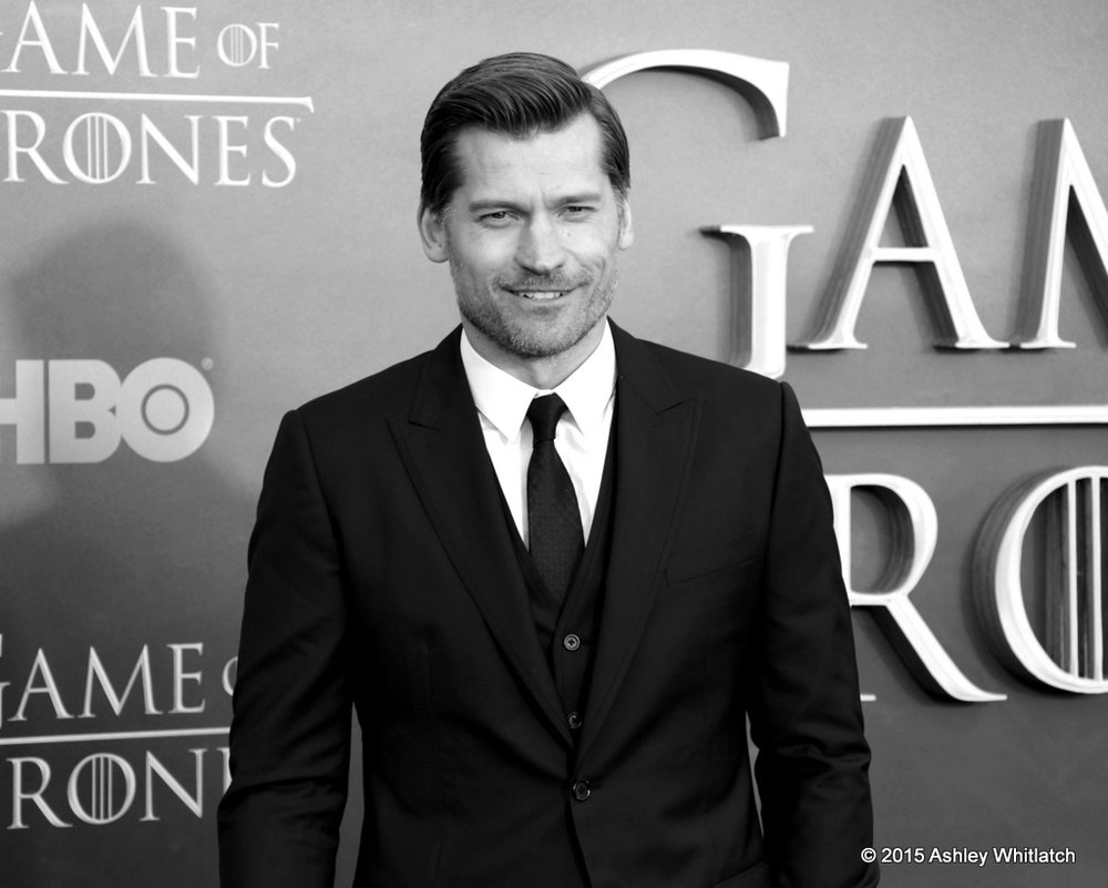 Nikolaj Coster - Waldau at the Season 5 Game of Thrones premiere in San Francisco.