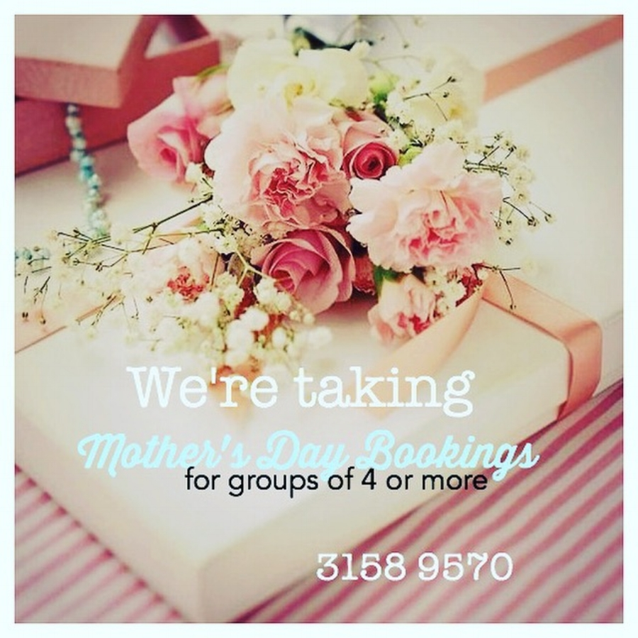All of our larger tables have been booked for Mother's Day. We do have some small tables available for walk ins but unfortunately won't be able to accomodate any walk ins for groups of 5 or more. nims xx