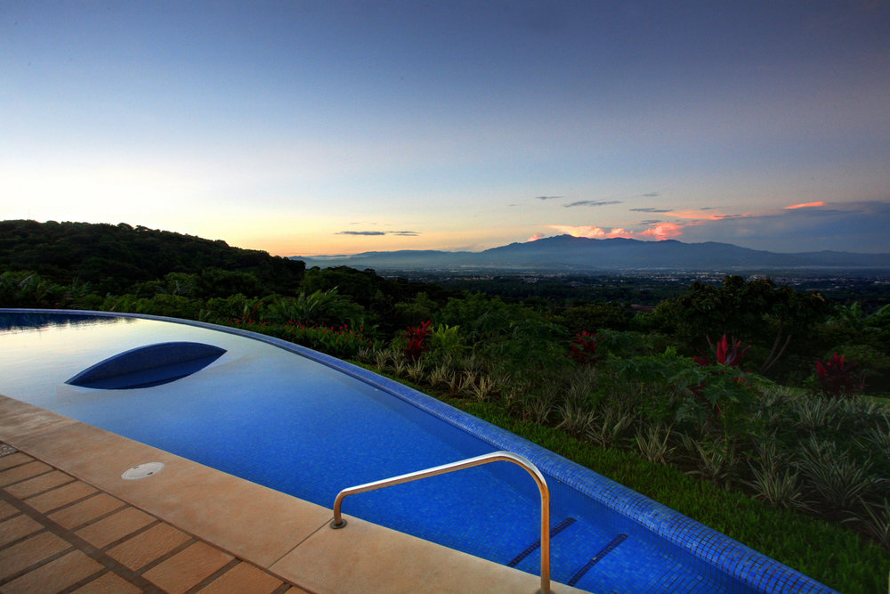 Sunset pool view.JPG