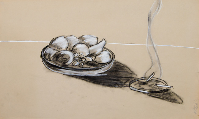 Noah Taylor. 'Untitled' (2012). Charcoal and pastel on paper
