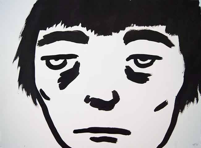Noah Taylor. 'Untitled' (2015). Ink on paper.