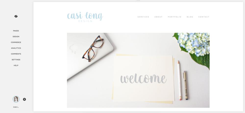 Squarespace Dashboard | casilong.com