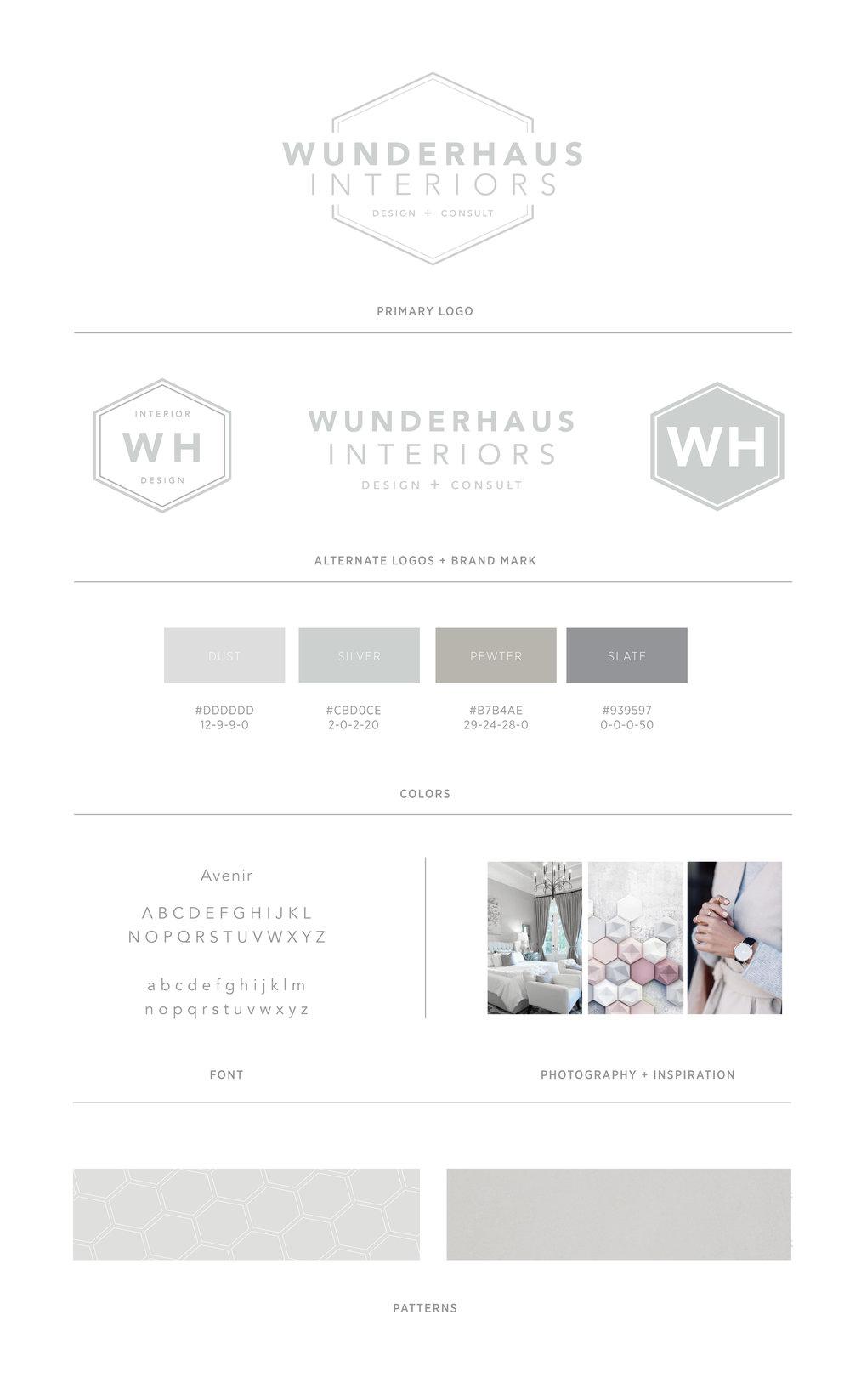 Branding design for Wunderhaus Interiors | casilong.com #casilongdesign #fearlesspursuit #branding #branddesign