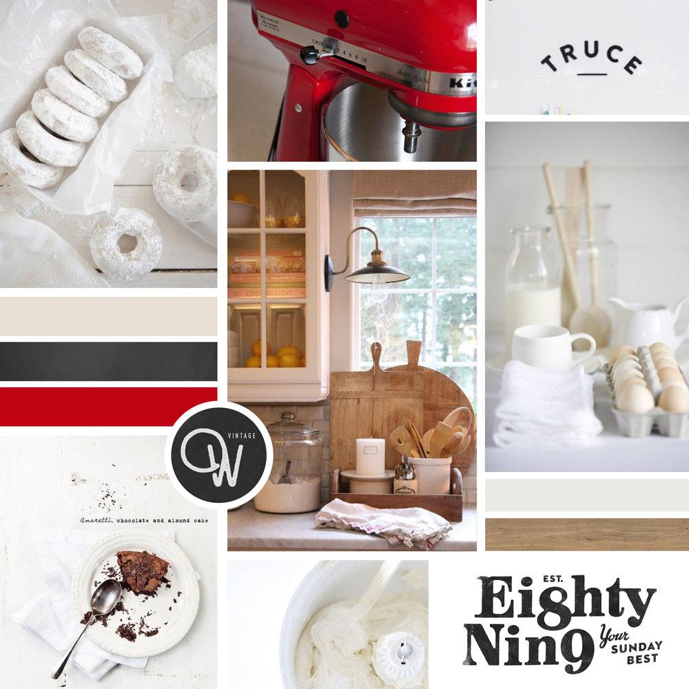 Inspiration Board | Brand + Website Design by Casi Long Design | The Dusty Baker Bakery | casilong.com #casilongdesign #fearlesspursuit