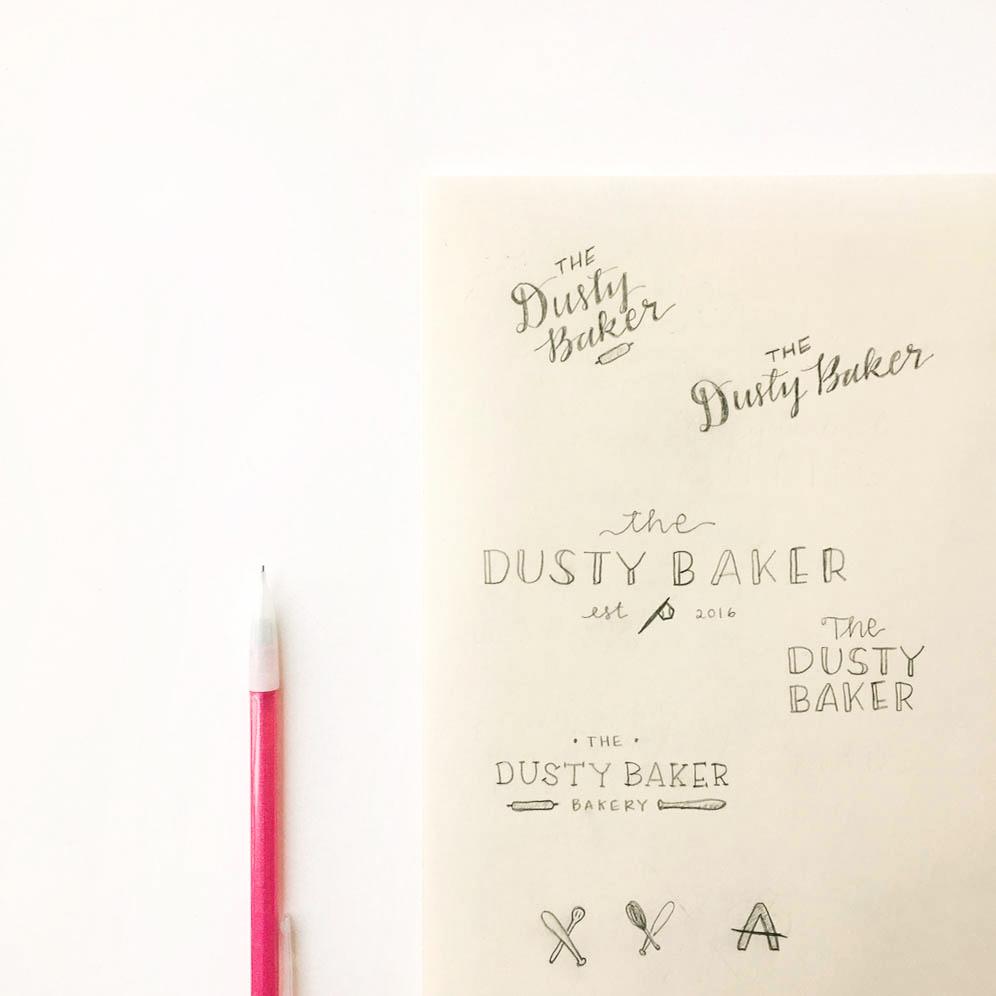 Sketches | Brand + Website Design by Casi Long Design | The Dusty Baker Bakery | casilong.com #casilongdesign #fearlesspursuit