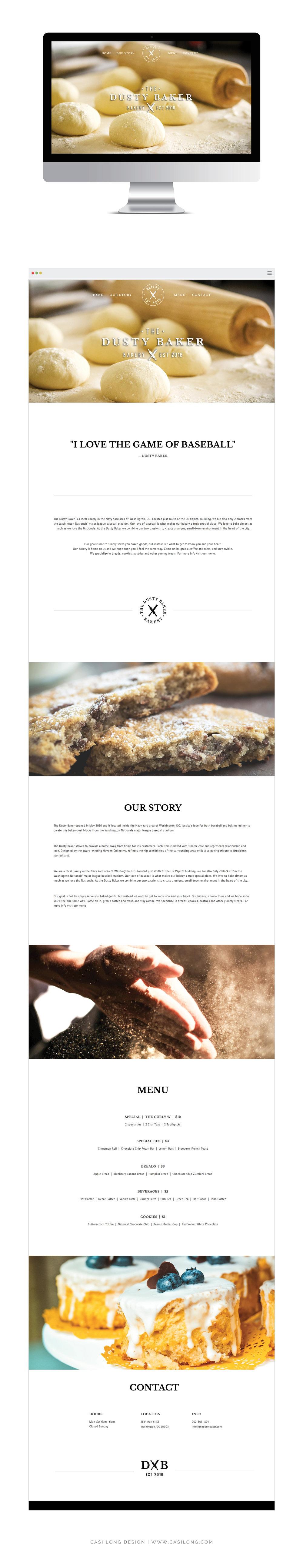 Website Design | Squarespace | Brand + Website Design by Casi Long Design | The Dusty Baker Bakery | casilong.com #casilongdesign #fearlesspursuit