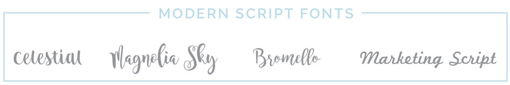 Modern Script Fonts | casilong.com #casilongdesign
