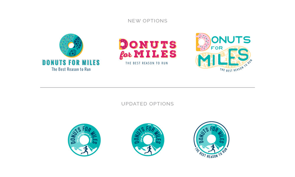 Logo Concepts for Donuts for Miles | Branding by Casi Long Design | www.casilong.com #casilongdesign