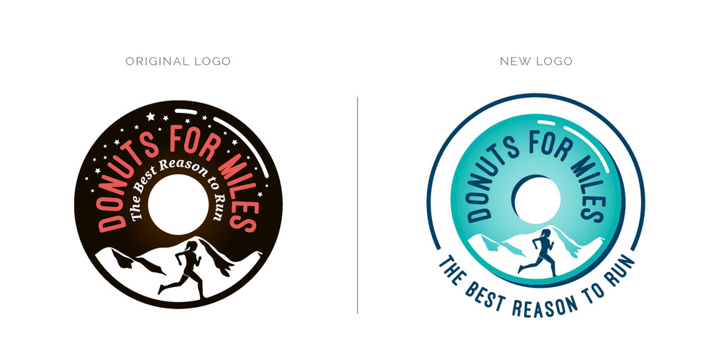 Logo Refresh for Donuts for Miles   Branding by Casi Long Design   www.casilong.com #casilongdesign