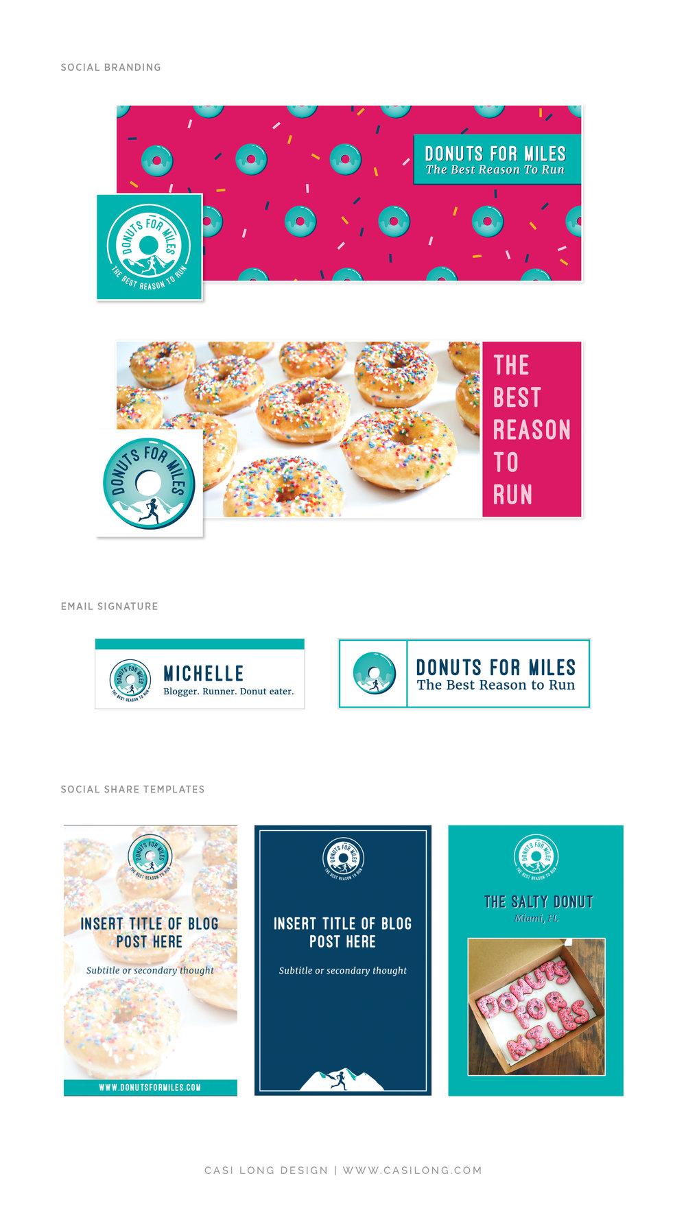 Social Media Branding Donuts for Miles   Branding by Casi Long Design   www.casilong.com #casilongdesign