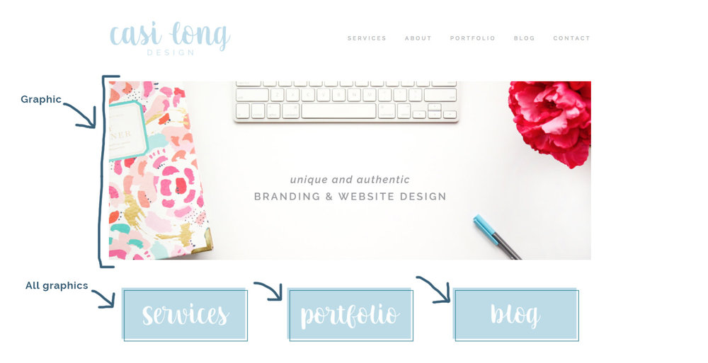 Graphic Examples | 5 Impactful Ways to Customize your Squarespace Template | casilong.com/blog #casilongdesign