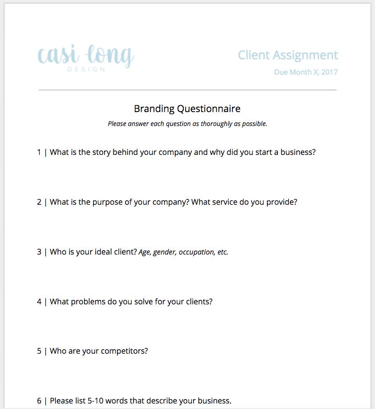 Client Assignment | An Inside Look at my Branding Client Process | casilong.com/blog #casilongdesign.jpg