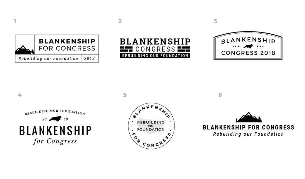 Logo Concepts | Blankenship for Congress | www.blankenshipforcongress.com