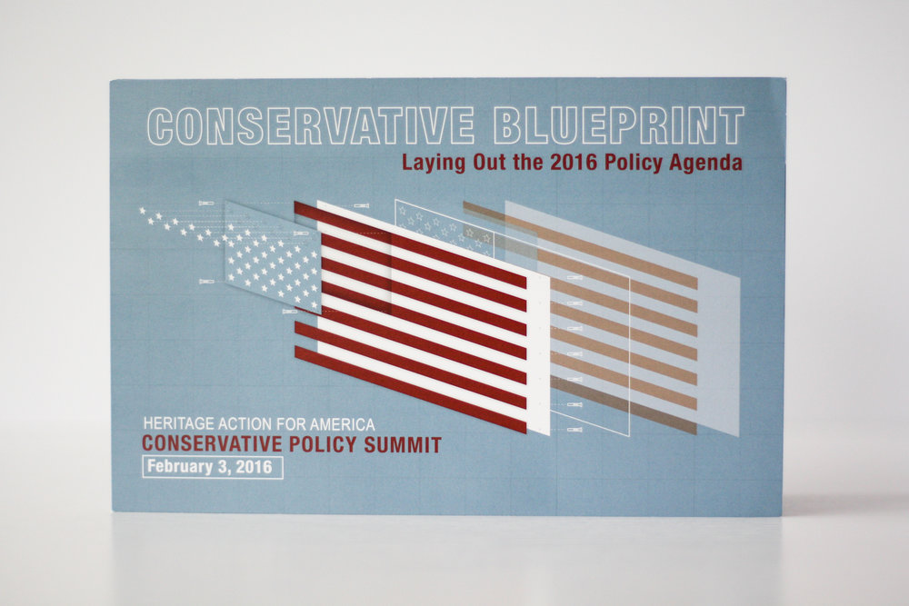 Conservative Policy Summit Corporate Event Invitation | Casi Long Design | casilong.com:portfolio | #casilongdesign #fearlesspursuit 1.jpg