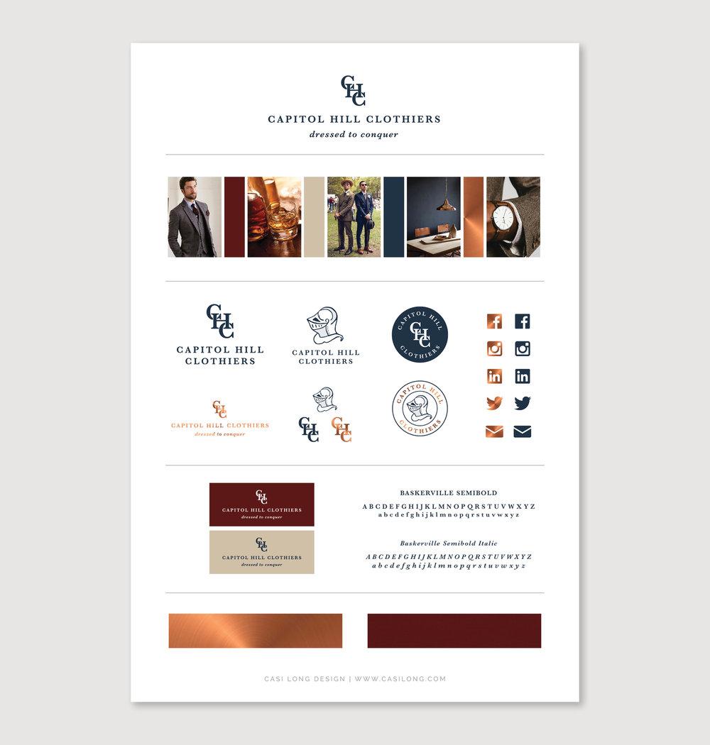 Capitol Hill Clothiers Branding by Casi Long Design | casilong.com .jpg