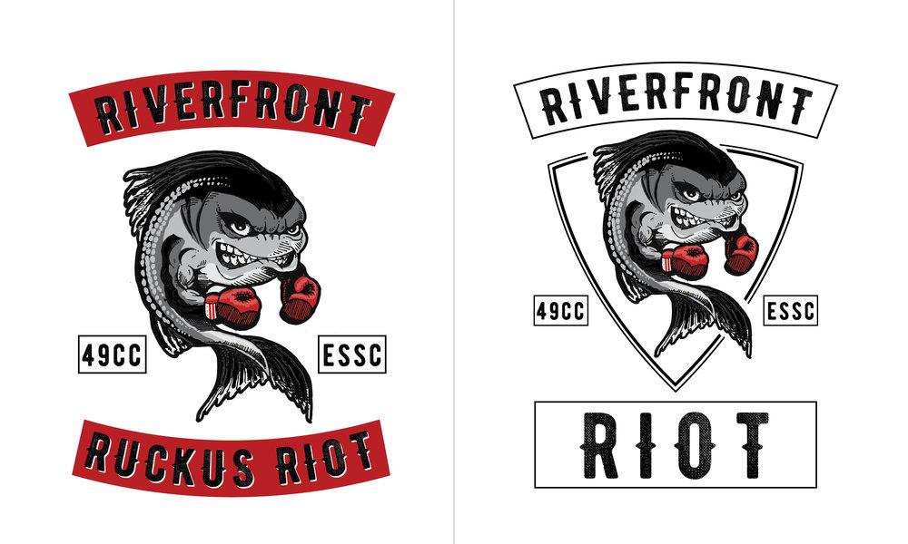 Riverfront Ruckus Riot Logo Design by Casi Long Design | casilong.com 2.jpg