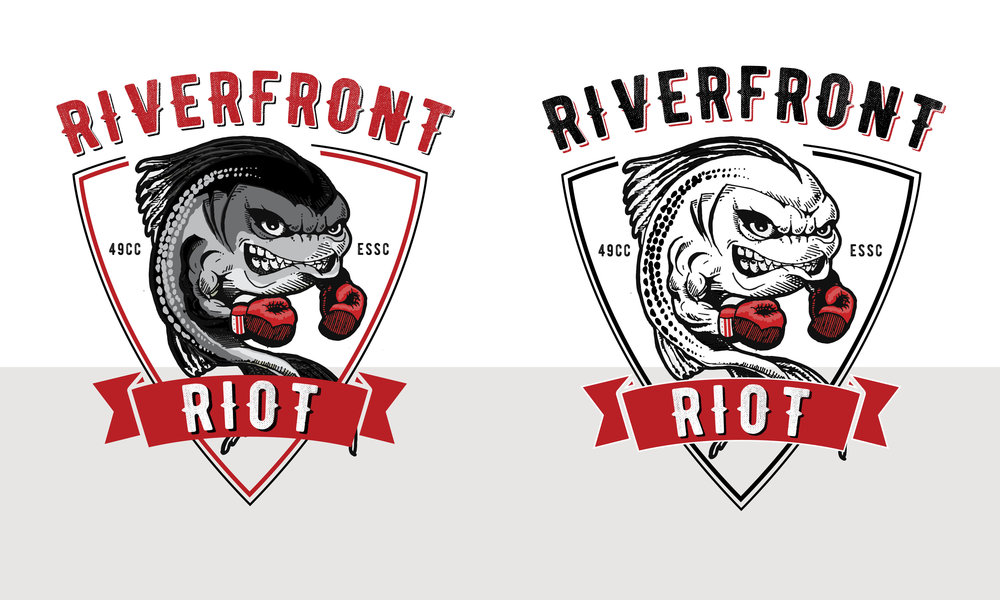 Riverfront Ruckus Riot Logo Design by Casi Long Design | casilong.com .jpg