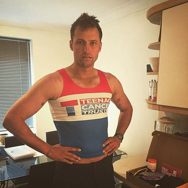 Never should have let @cappucciniliv order my shirt from @teenage_cancer for the #brightonmarathon this Sunday. I've been well and truly trolled. On a side note, delighted to say I'll be chatting again at the @juiceplus_uk convention in Birmingham on Sat 28th of April, I'll be talking about the nitty gritty of the expedition and how I used their omega products in my nutrition plan. Best of luck to everyone running this Sunday!