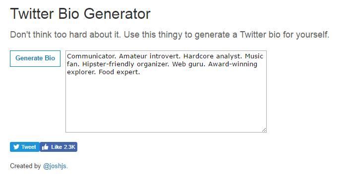 Twitter Bio Generator 3