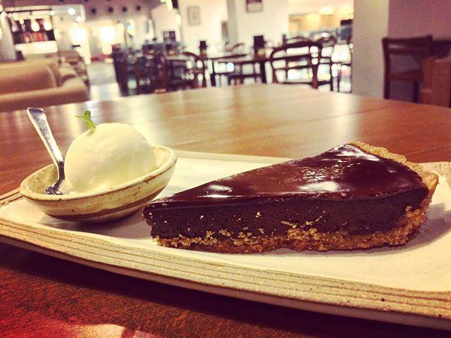 Hazelnut Chocolate Ganache with Vanilla Ice Cream