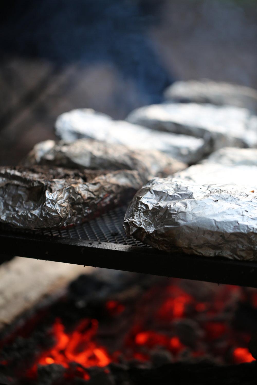 unlike flames from a fire, hot coals create intense, even heat