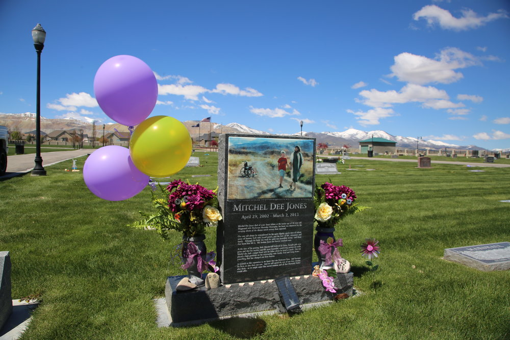 Mitchell's headstone today (April 29, 2017)