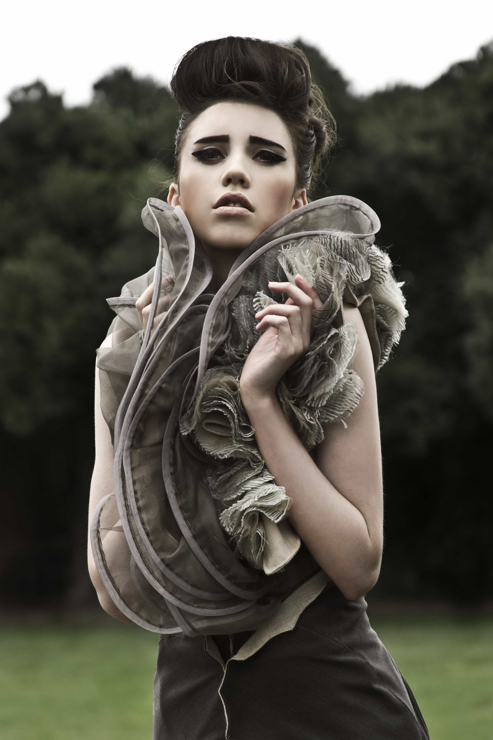 Photographer: Danielle Edwards. Model: Jasmine Waters.  Collection: ORGANIC ARCHITECTURE