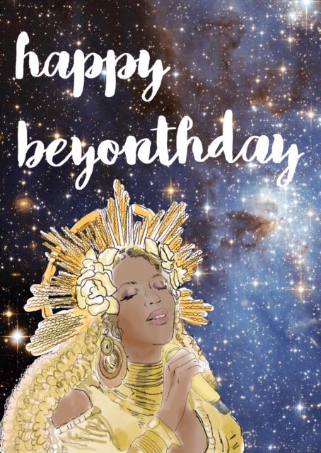 Beyonce Birthday Card Rosie Johnson Illustrates