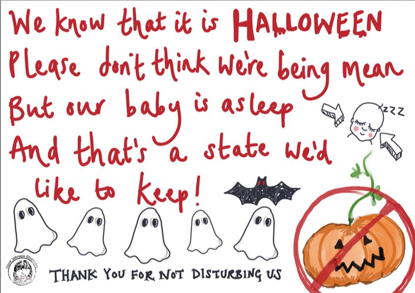 Halloween Baby Sleeping Free Poster