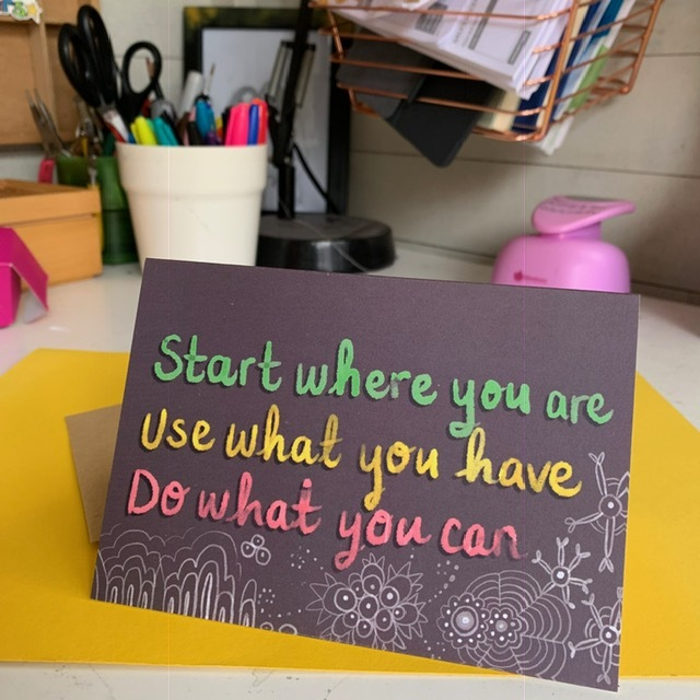 (ad) You can buy my card with this nice, positive quote on, if you like.