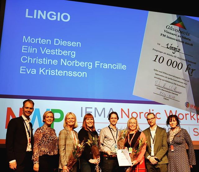 Well done Lingio and Sodexo! You won the IFMA Innovation Award 2018. Henrik Gustafsson was one of the jury members.