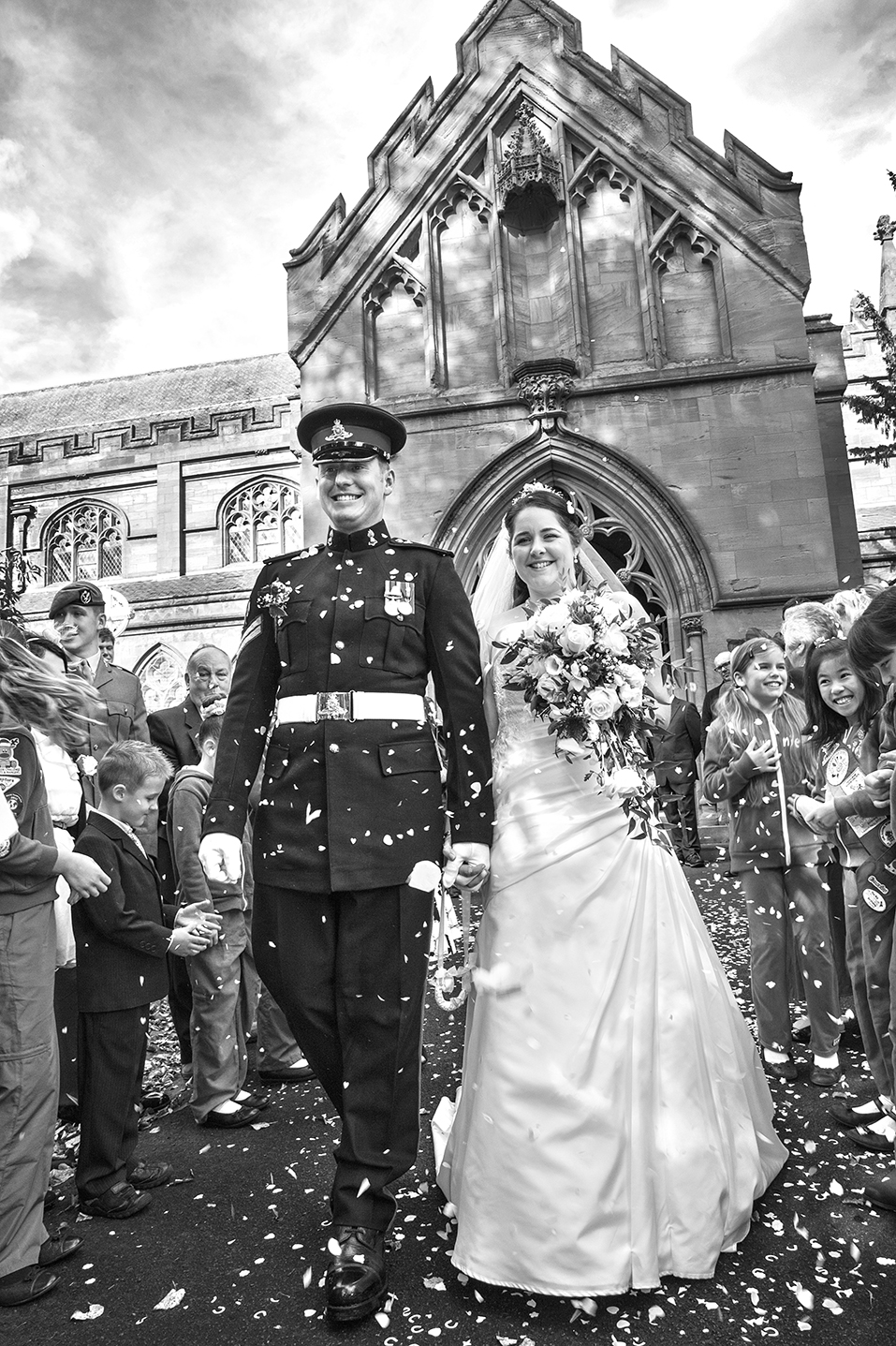 Bride and Groom St John the Baptist Church Kidderminster