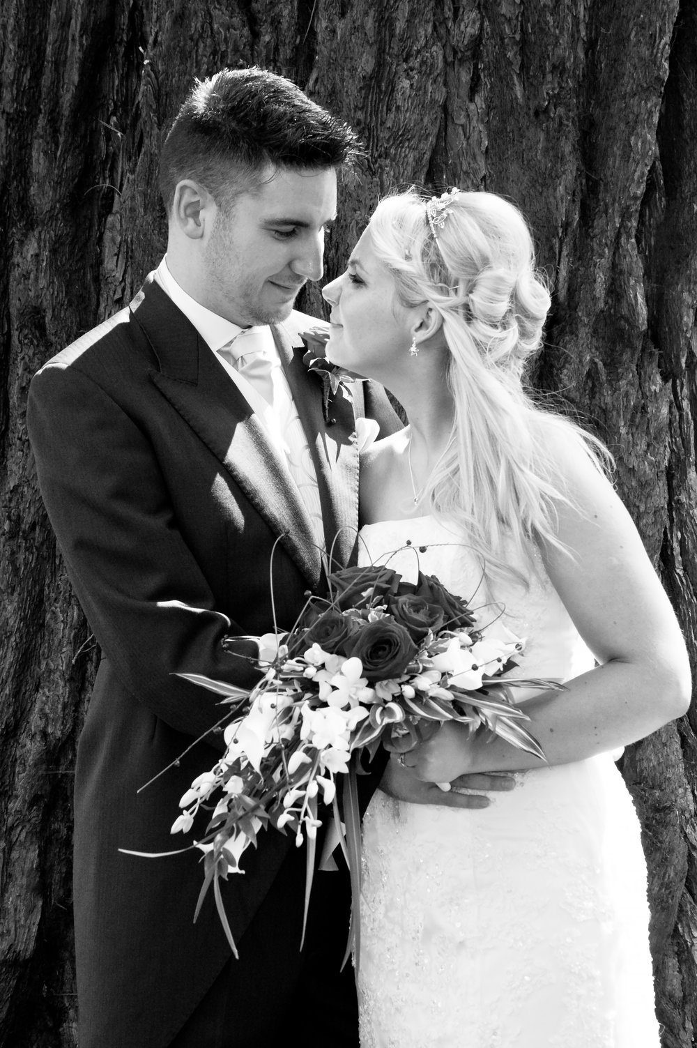 Bride and Groom Brockencote Hall Kidderminster Worcestershire