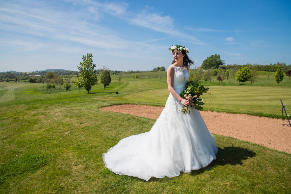 Bride on the course Henley Golf and Country Club