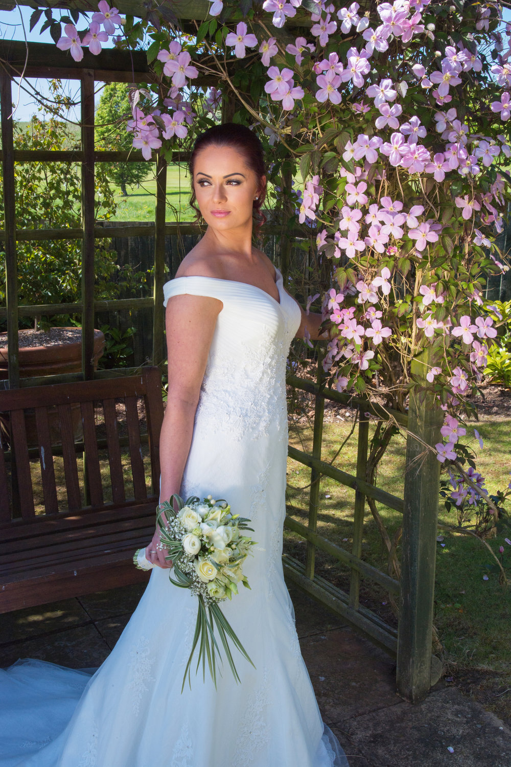 Bride in the garden Henley Golf and Country club