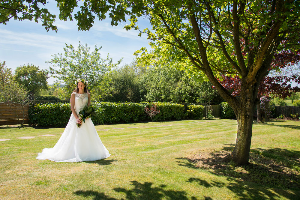 Bride with flowers Henley Golf and Country Club