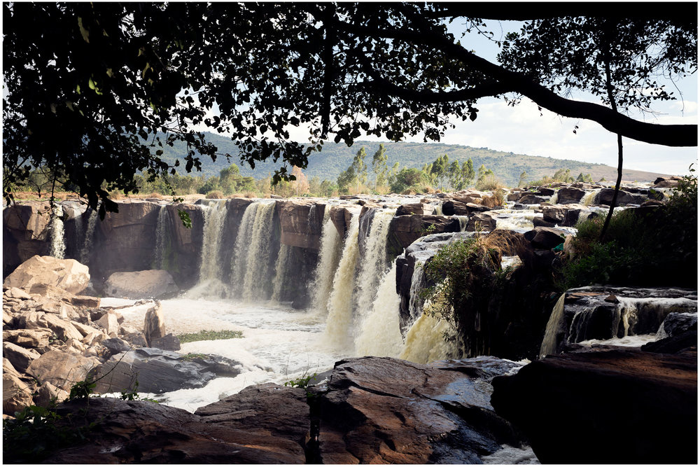 Fourteen Falls, Thika, Kenya. (View from Kiambu County)