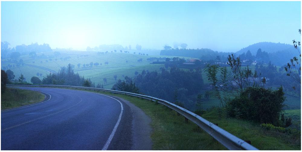 Kiambu-Limuru highway has one of the most beautiful scenaries.