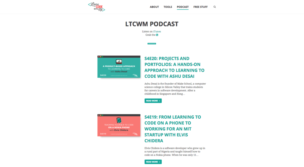 Listen to the Learn To Code With Me podcast