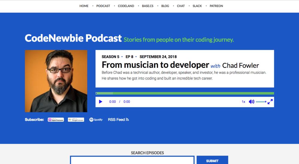 Listen to CodeNewbie podcast