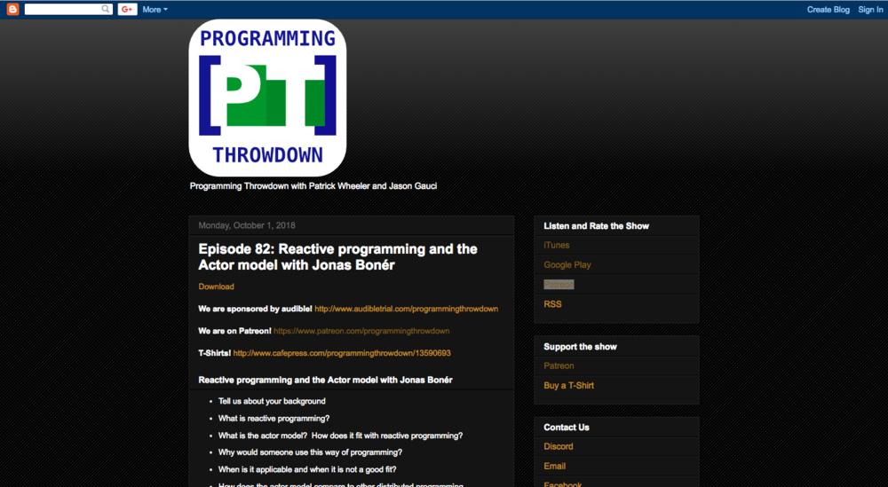 Listen to the Programming Throwdown podcast