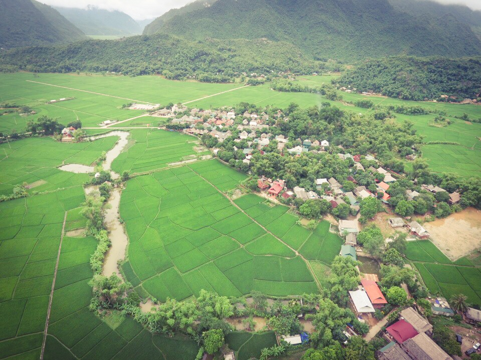 Our village in Mai Chau - shot from the drone