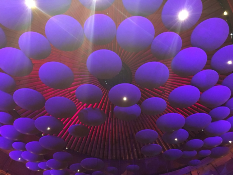 The ceiling of the Royal Albert Hall, London