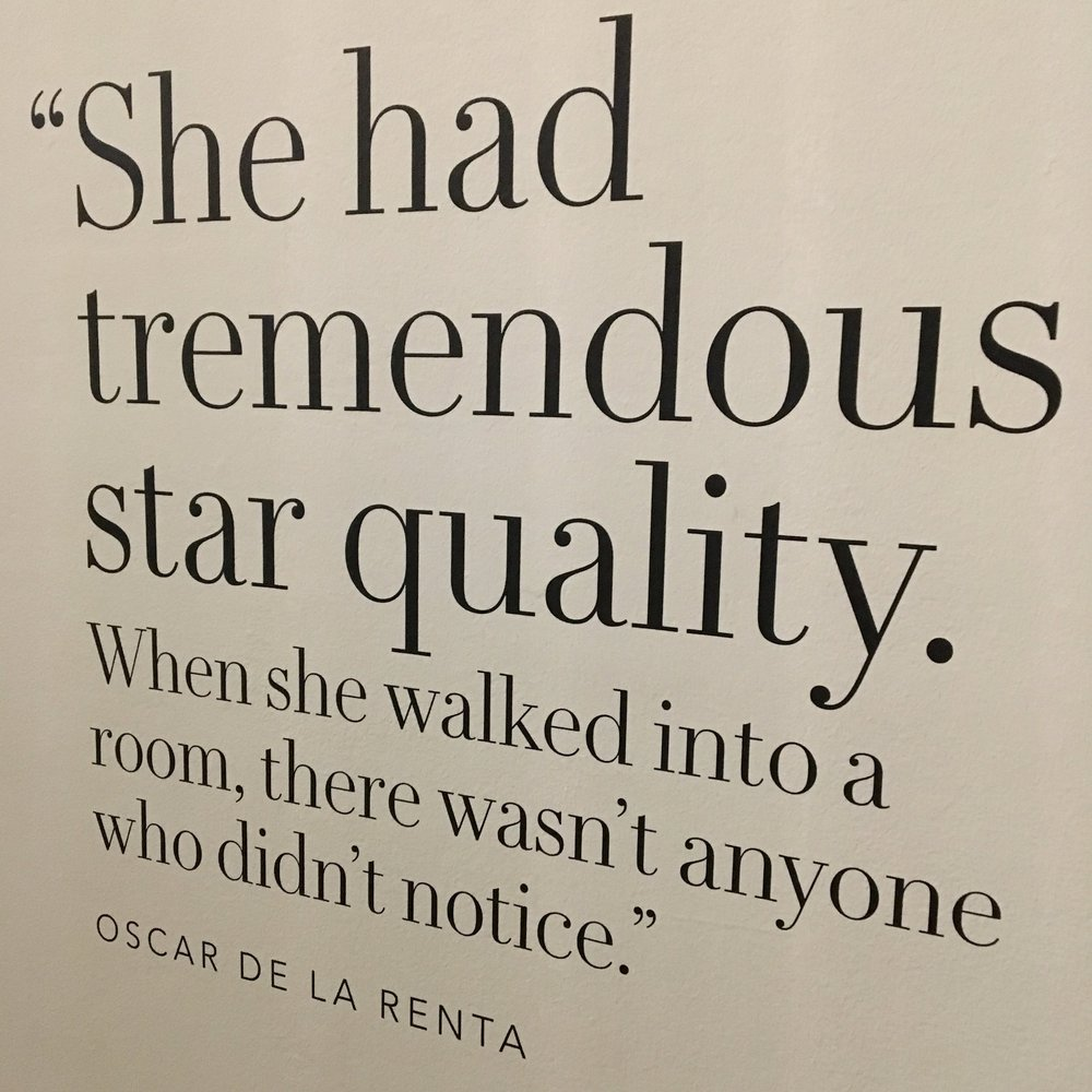 Oscar De La Renta quote from the Diana Exhibition at Kensington Palace