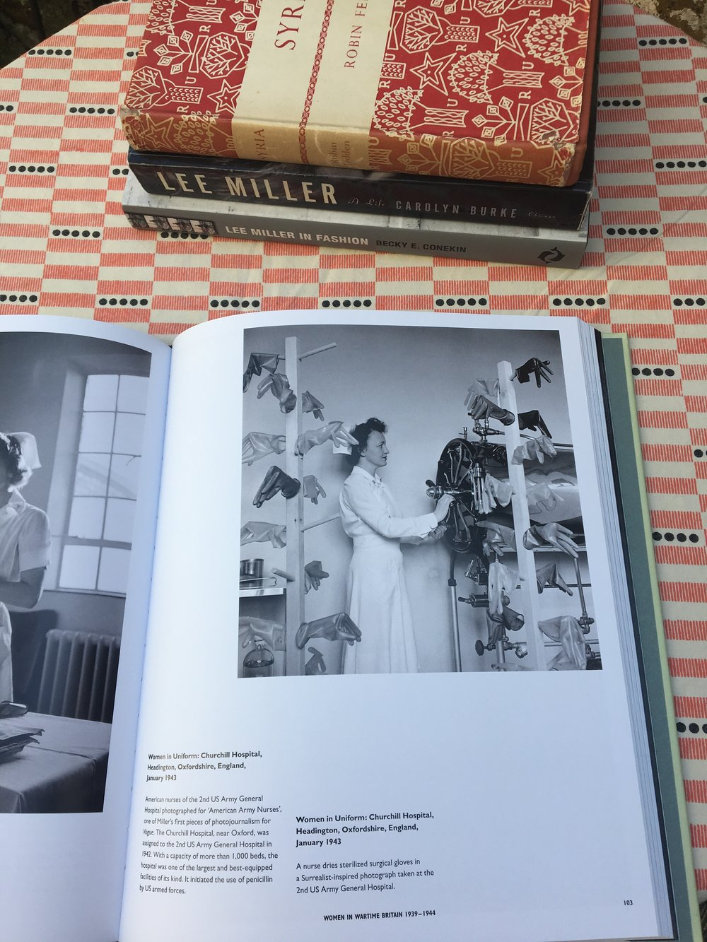 Some of my books about Lee Miller