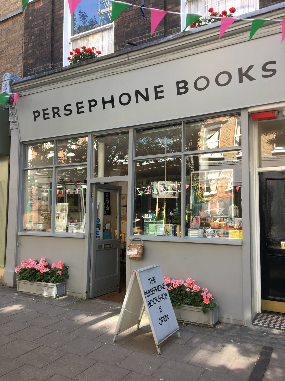 Persephone Books, Lamb's conduit Street, London.